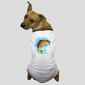 Jumping Rainbow Trout Dog T-Shirt