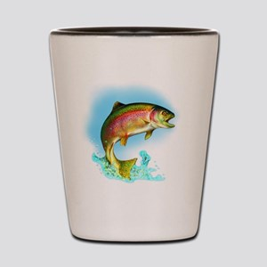 Jumping Rainbow Trout Shot Glass