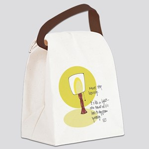On Curiosity Canvas Lunch Bag
