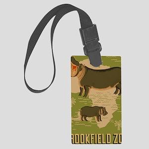 Brookfield Zoo Vintage Poster Hi Large Luggage Tag