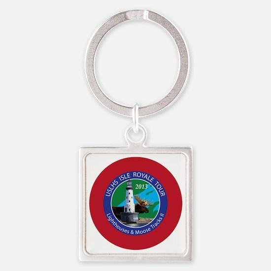 Isle Royale Lighthouse Tour Square Keychain