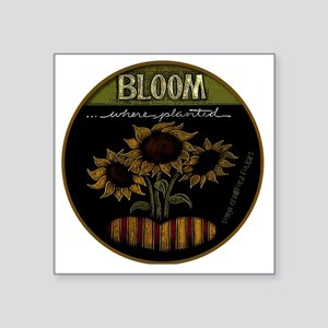 "Bloom Square Sticker 3"" x 3"""