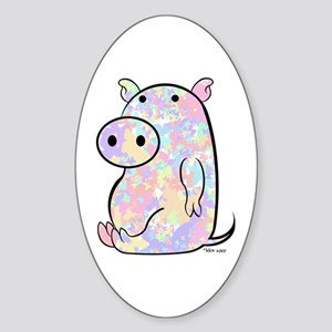PIGGY Oval Sticker