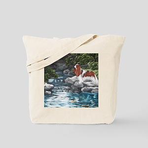 At the Koi Pond Tote Bag
