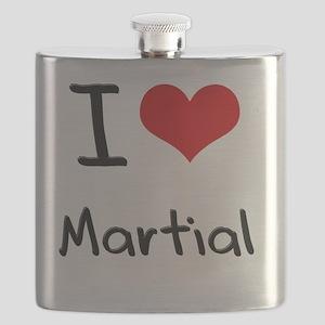 I Love Martial Flask
