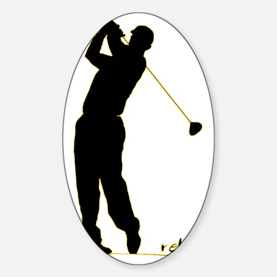Golf Sticker (Oval)
