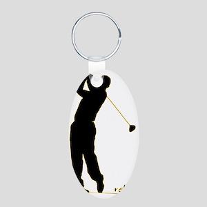 Golf Aluminum Oval Keychain