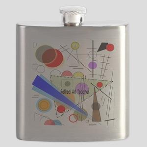 Retired ARt TEacher funky all over Flask