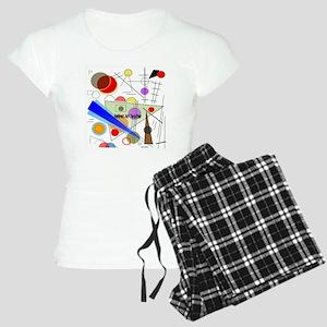 Retired ARt TEacher funky a Women's Light Pajamas