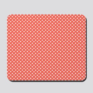 coral with little white dots Mousepad