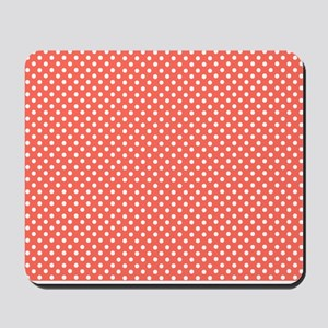 coral with little white dots 2 Mousepad