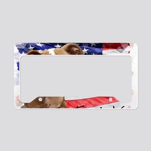 Thank You Pitbull Puppy License Plate Holder