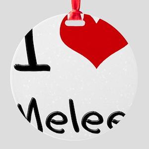 I Love Melee Round Ornament