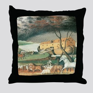 Noahs Ark Throw Pillow