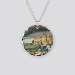 Noahs Ark Necklace Circle Charm