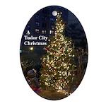 Tudor City Christmas Oval Ornament