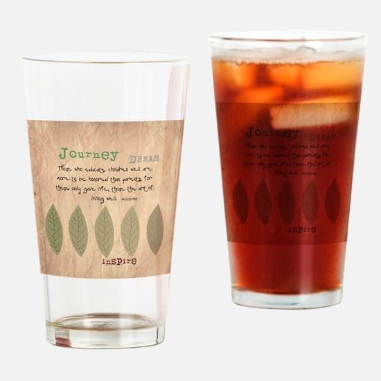 Retired Teacher Quote Aristotle Drinking Glass