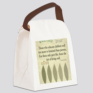 Retired Teacher quote Aristotle B Canvas Lunch Bag