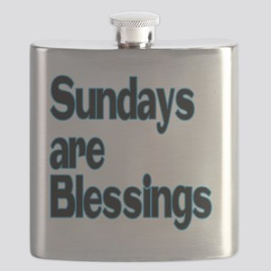 Sundays are Blessings Flask