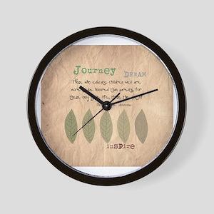 retired teacher INSPIRE PILLOW Wall Clock