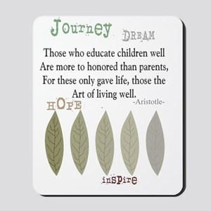 retired teacher aristotle quote t-shirt Mousepad