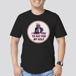 I Want You To Pay For  Men's Fitted T-Shirt (dark)