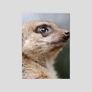 Meerkat Curtains 84 inch 5'x7'Area Rug