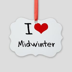 I Love Midwinter Picture Ornament