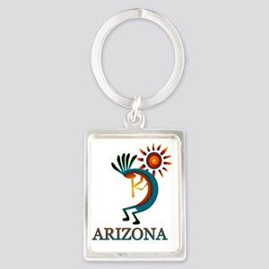 Arizona Kokopelli Portrait Keychain