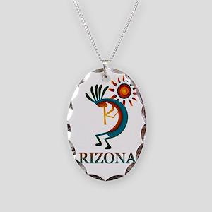 Arizona Kokopelli Necklace Oval Charm