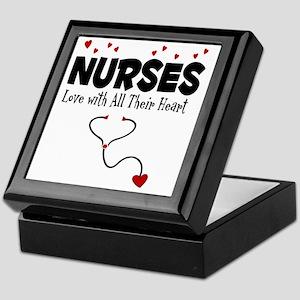 Nurses Love With All Their Heart Keepsake Box