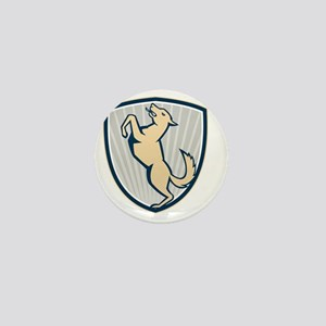 Prancing Dog Side Shield Mini Button