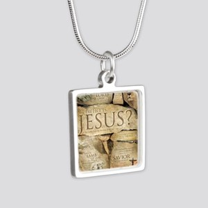 Names of Jesus Christ Silver Square Necklace