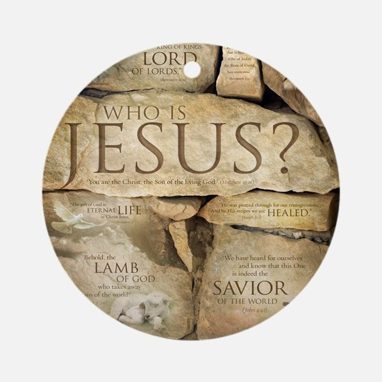 Names of Jesus Christ Round Ornament