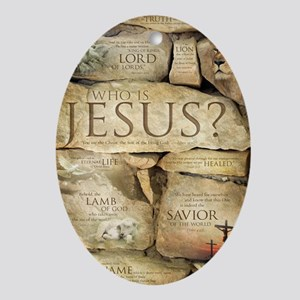 Names of Jesus Christ Oval Ornament