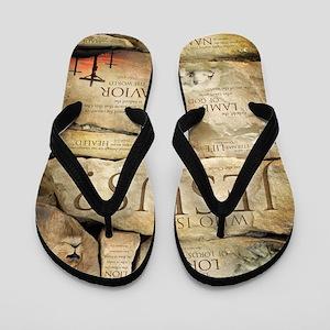 Names of Jesus Christ Flip Flops