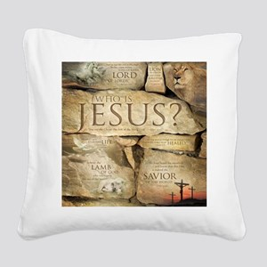 Names of Jesus Christ Square Canvas Pillow