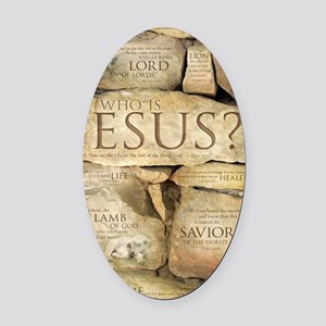 Names of Jesus Christ Oval Car Magnet