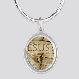 Names of Jesus Christ Silver Oval Necklace