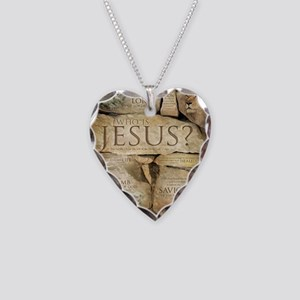 Names of Jesus Christ Necklace Heart Charm