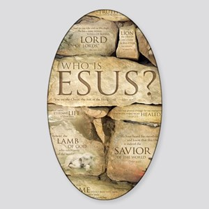 Names of Jesus Christ Sticker (Oval)