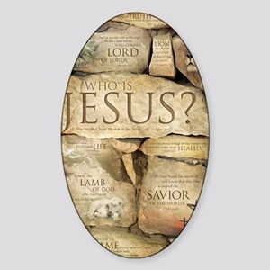 Names of Jesus Christ Sticker (Oval)