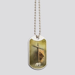 The Lion and the Lamb Dog Tags