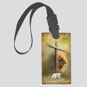 The Lion and the Lamb Large Luggage Tag