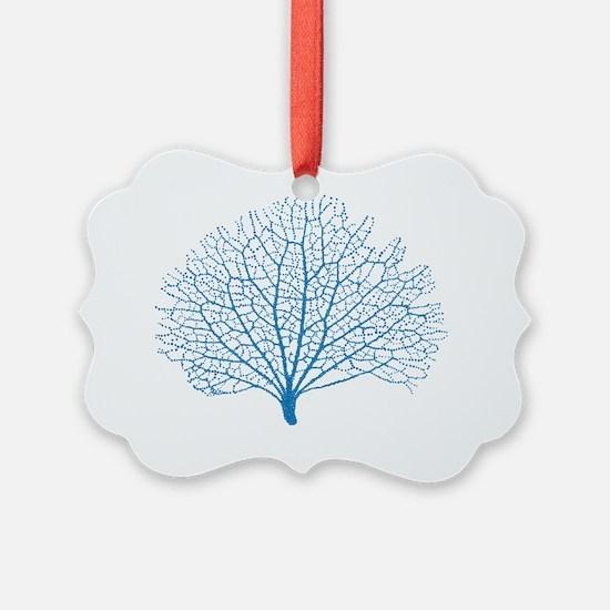 blue sea fan coral Ornament