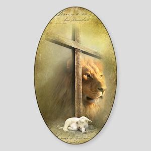 Lion of Judah, Lamb of God Sticker (Oval)