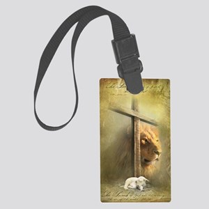 Lion of Judah, Lamb of God Large Luggage Tag