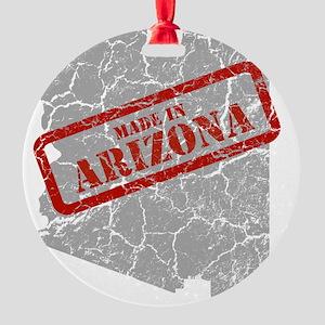 Made in Arizona Map G Round Ornament