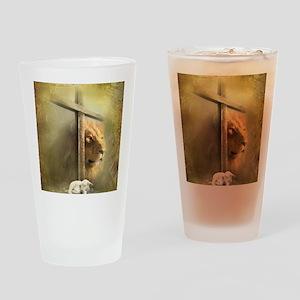 Lion of Judah, Lamb of God Drinking Glass
