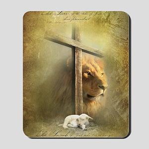 Lion of Judah, Lamb of God Mousepad